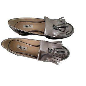 Clarks Tassel Loafer Pewter Metallic